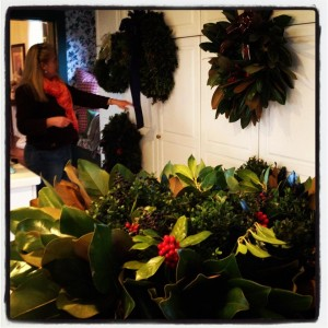 christmas wreaths in combsberry inn oxford md