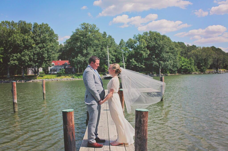 Oxford MD waterfront wedding elopement combsberry inn pier