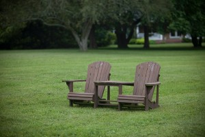 two adirondack chairs on combsberry inn lawn md