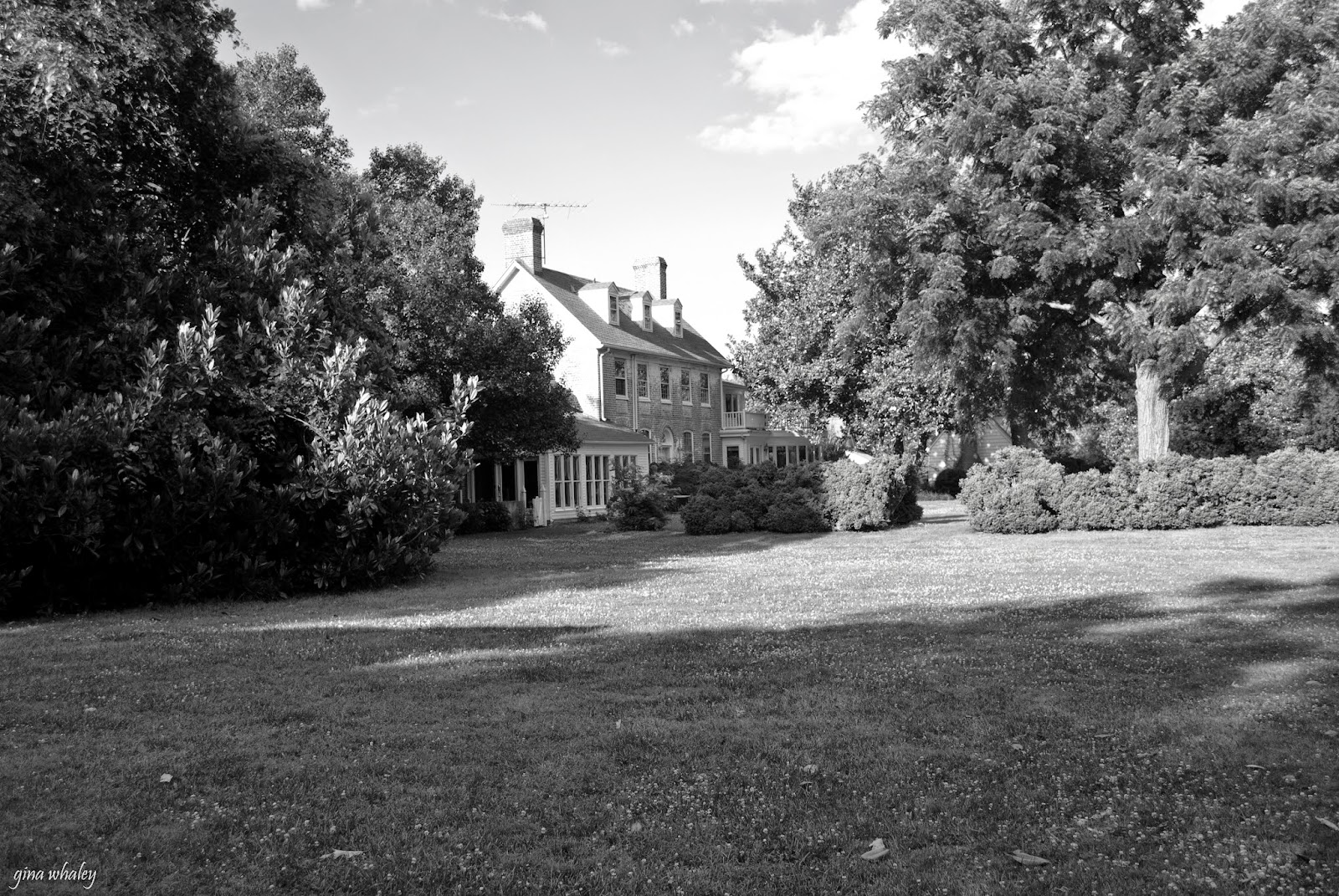 black and white photo of combsberry inn main house