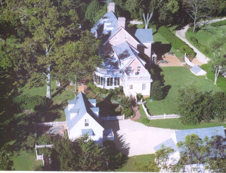 aerial photo of combsberry inn oxford maryland