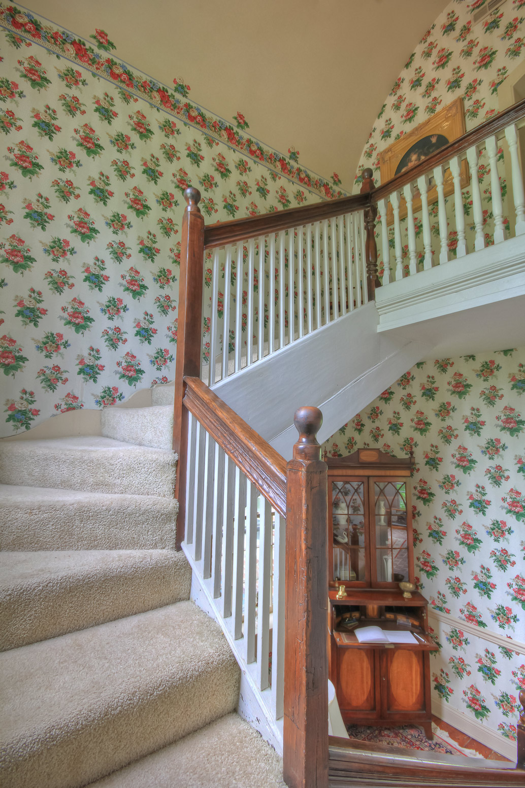 main stairway in main house combsberry inn