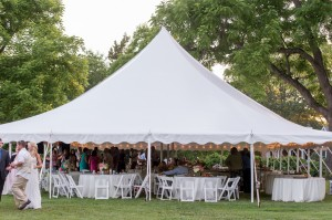 tent with lights for wedding reception combsberry inn md