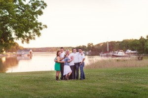 Waterfront Morris Family Photo by oxford river