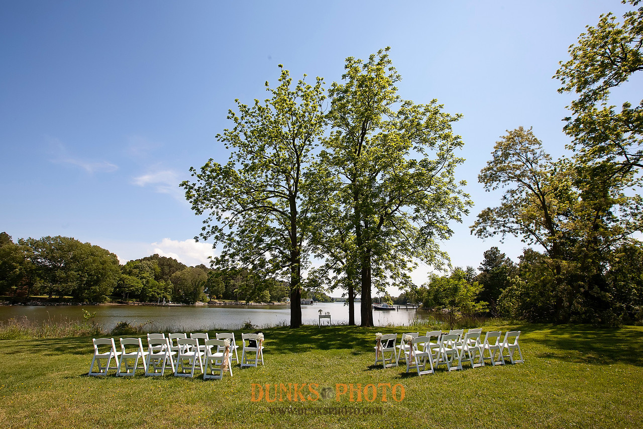 white empty chairs set up for wedding ceremony combsberry inn