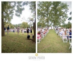 photos of wedding ceremony at combsberry inn