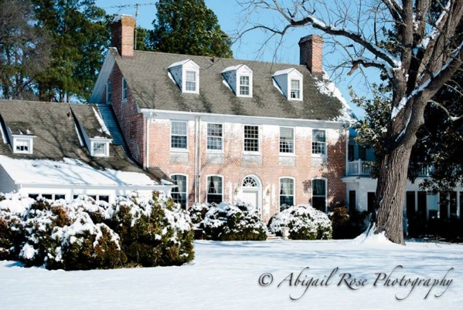 Combsberry Winter Bed and Breakfast main house with snow