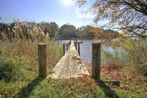 long pier leading out to water at combsberry in oxford md