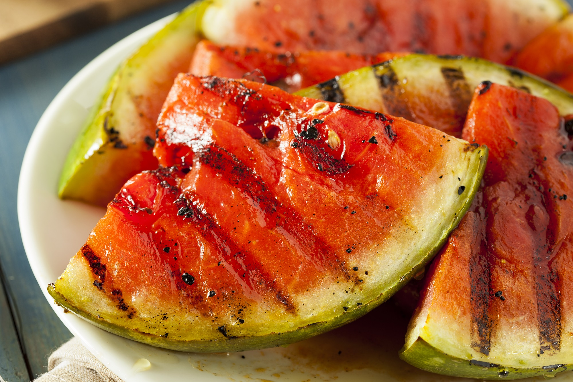 plate of grilled watermelon from combsberry inn in oxford md