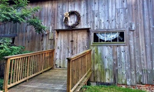 Door Ramp on rustic barn in oxford md